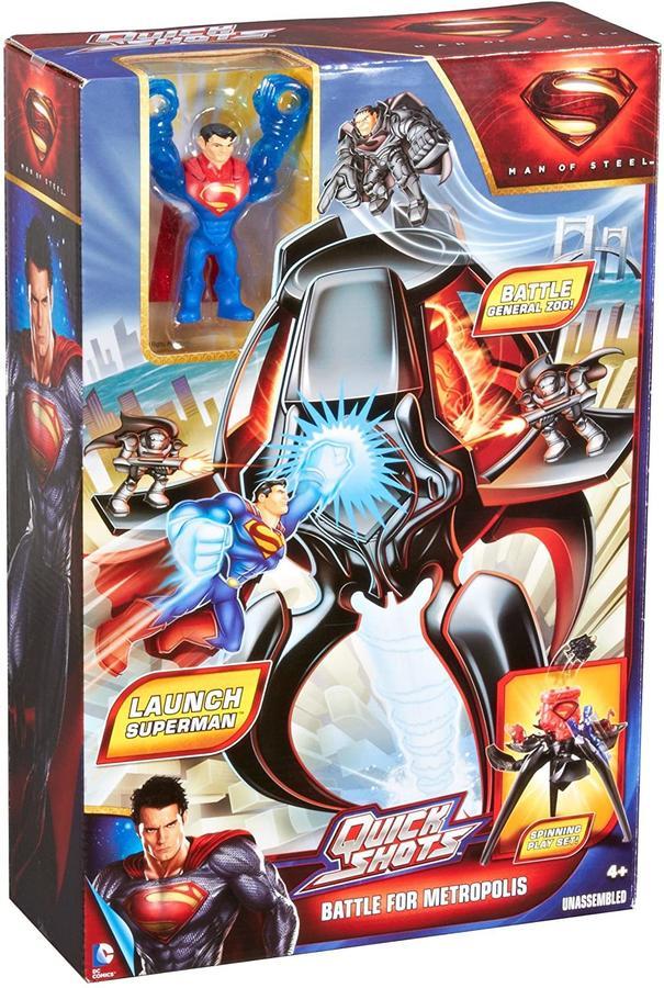Superman Quickshots - Battaglia della metropoli - Mattel Y0821 - 4+ anni