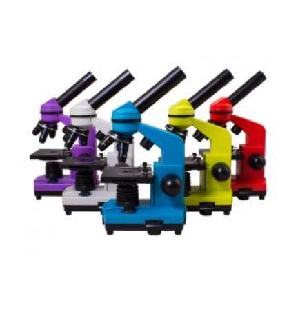 Microscopio Levenhuk Rainbow 2L con Kit Esperimenti, Vari Colori