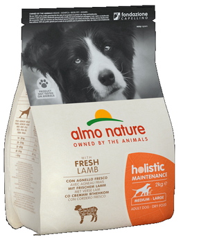 Almo Nature Cane Holistic Medium Agnello & Riso Disponibile nei formati 2 - 12 Kg