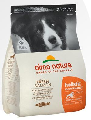 Almo Nature Cane Holistic Medium Salmone & Riso Disponibile nei formati 2 - 12 Kg