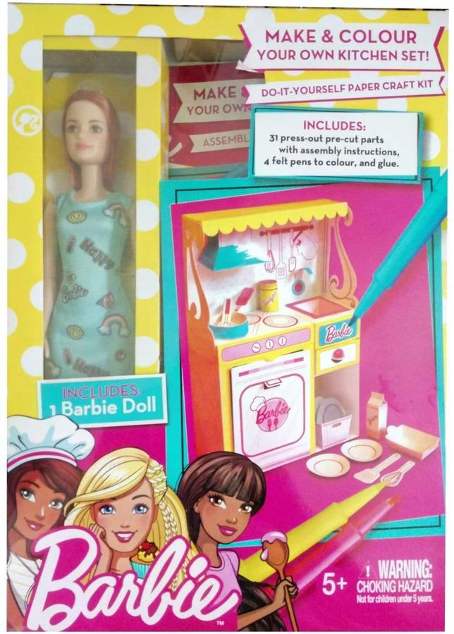 Barbie - Costruisci e colora la tua cucina - Mattel GDF57 - 5+ anni
