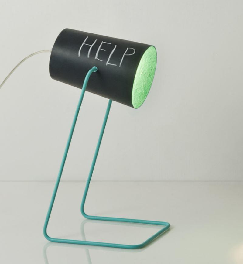Lampada da Tavolo Paint T Lavagna Collezione Matt di In-es.artdesign, Varie Finiture - Offerta di Mondo Luce 24