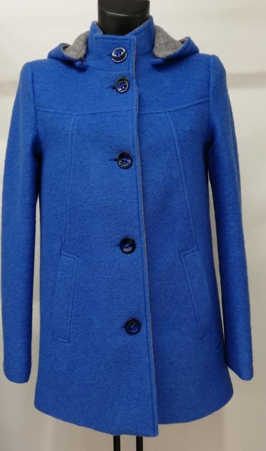 Cappotto in Lana Cotta Bluette