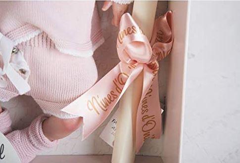 Bambola Nines d'Onil 'Reborn Pink' Profumata in Vinile  Completa di Scatola