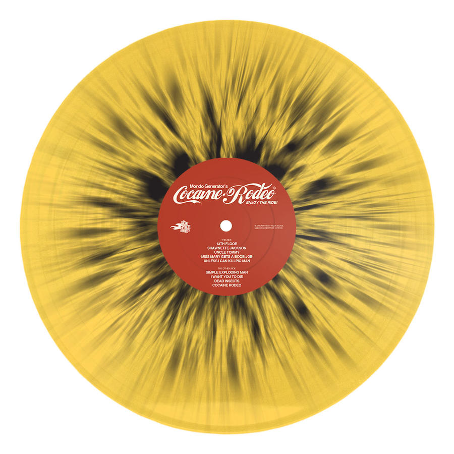 MONDO GENERATOR - COCAINE RODEO LP SPLATTER YELLOW/BLACK LIMITED EDITION