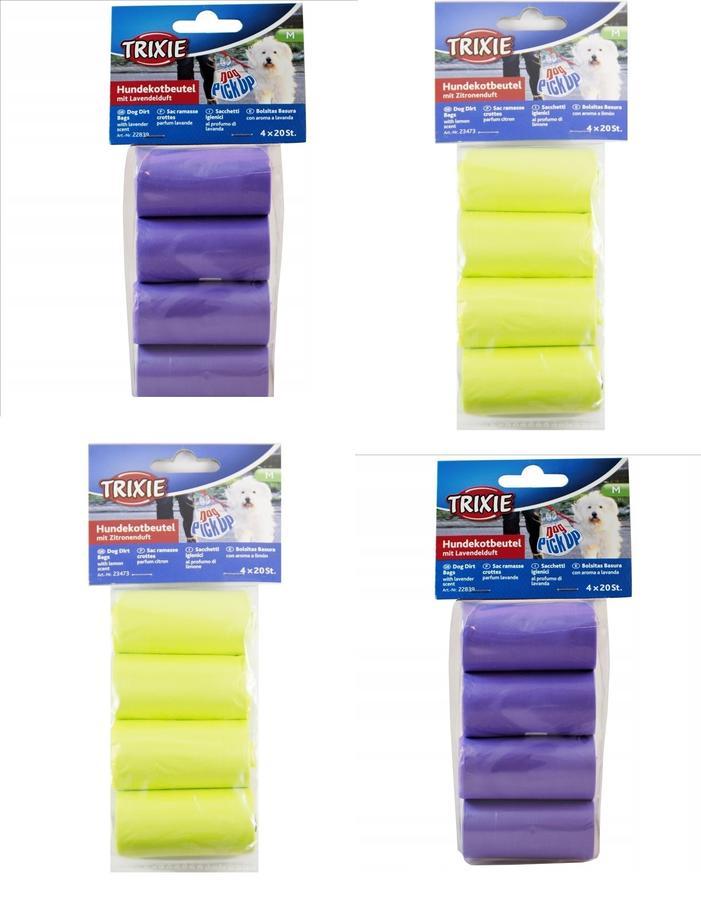 320 Sacchetti Igienici M Rotoli Per Raccolta Escrementi Cani Profumati limone Lavanda