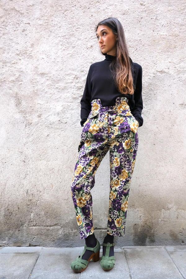 SIGARETTA CON BASCHINA fiori viola
