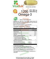 Vitalbulk - OMEGA 3 – 1,200 MG – 100 PEZZI