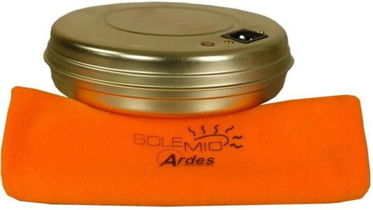 Ardes AR071A Sole Mio Scaldino Elettrico con Lampada Spia, Termostato di Sicurezza e Soffice e Pratica Custodia in Cotone Made in Italy