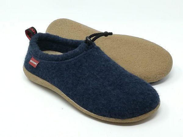 Pantofola Lana Cotta Blu - BIOLINE