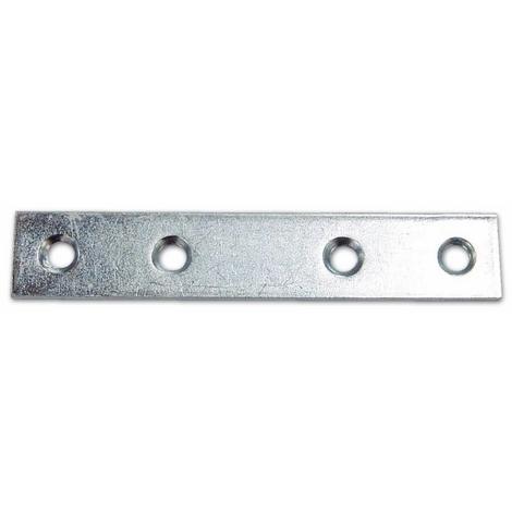 Lastrina diritta in acciaio zincato mm 80 pz 10