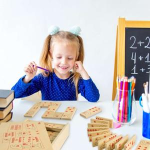 Gioco Domino Numeri e Quantità, 55 pezzi di Dida