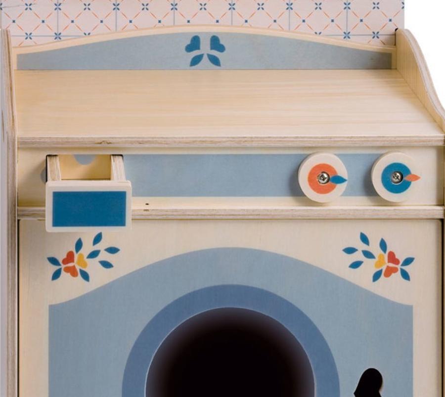Lavatrice in Legno Naturale per Bambini di Dida