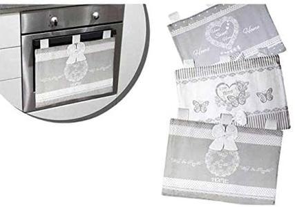 Copriforno in Tessuto Copertura Vetro Forno Copri Forno Shabby Chic Design 3 Modelli 40x50cm