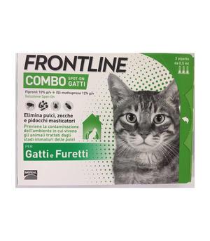 Frontline Combo Gatti Furetti 3 Pipette Antiparassitario contyro Zecche Pulci Pidocchi