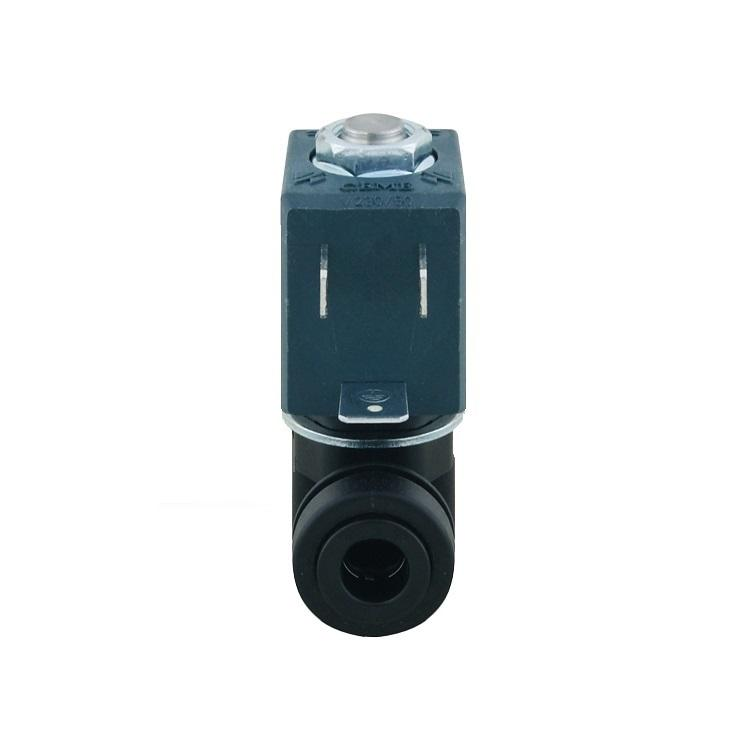 Elettrovalvola 1 via per erogatori e depuratori d'acqua 220 volt raccordi rapidi 8mm