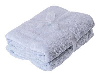 Asciugamano Neonati e Bambini 65x85 cm Ghiaccio con Bordo a Pois