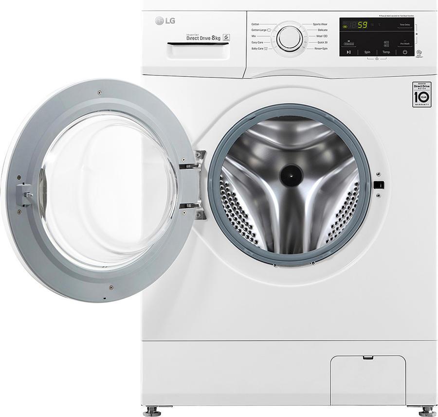 LG Lavatrice Carica Frontale Capacità di carico 8 Kg Classe energetica A+++ Profondità 55 cm Centrifuga 1200 giri Partenza ritardata / Motore Inverter - FH2J3TDN0 6 Motion Direct Drive