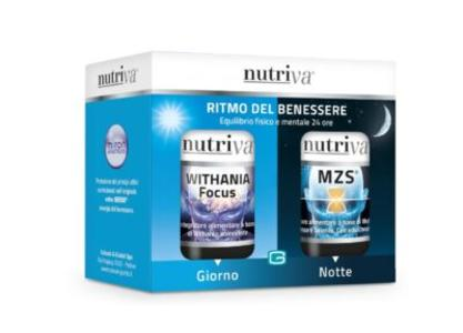 ►PROMO◄ NUTRIVA WITHANIA FOCUS 30 CPS + NUTRIVA MZS® 120 CPR
