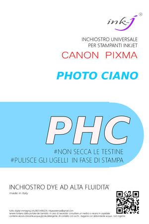INCHIOSTRO COMPATIBILE DYE 1 LITRO PHOTO CIANO PER CANON