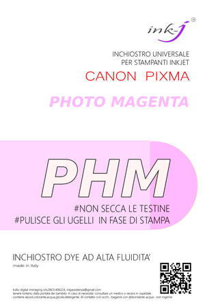 INCHIOSTRO COMPATIBILE DYE 1 LITRO PHOTO MAGENTA PER CANON PIXMA