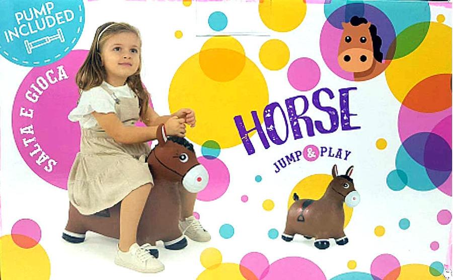 Gonfiabile Salta e gioca - Cavallo - Toysone PA1604 - 3+ anni