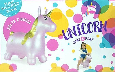 Gonfiabile Salta e Gioca - Unicorno Rosa - ToysOne PA359 - 3+ anni