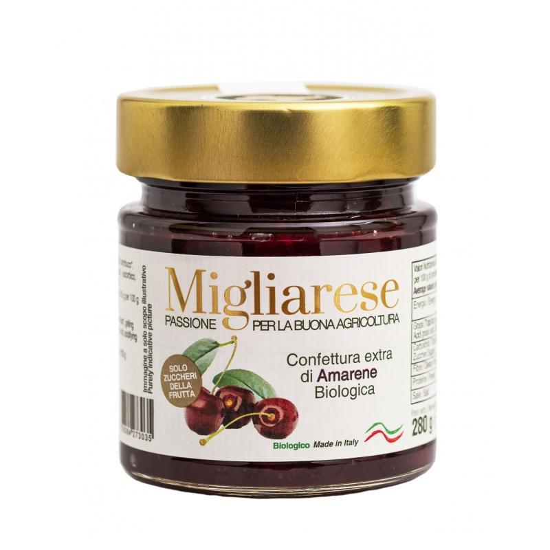 Confettura extra di Amarene Bio, MIgliarese, 280 gr