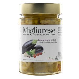 Melanzane a filetti in Olio Evo, Migliarese,  320 gr
