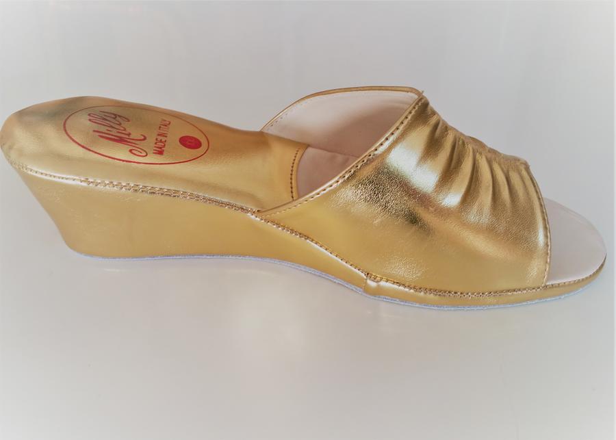 Milly ciabatta da camera 1805 oro