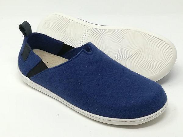 Pantofola/Scarpa Lana Cotta Oltremare - BIOLINE