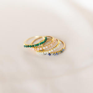 Anello in gold-filled con pietre micro [ + colori ]