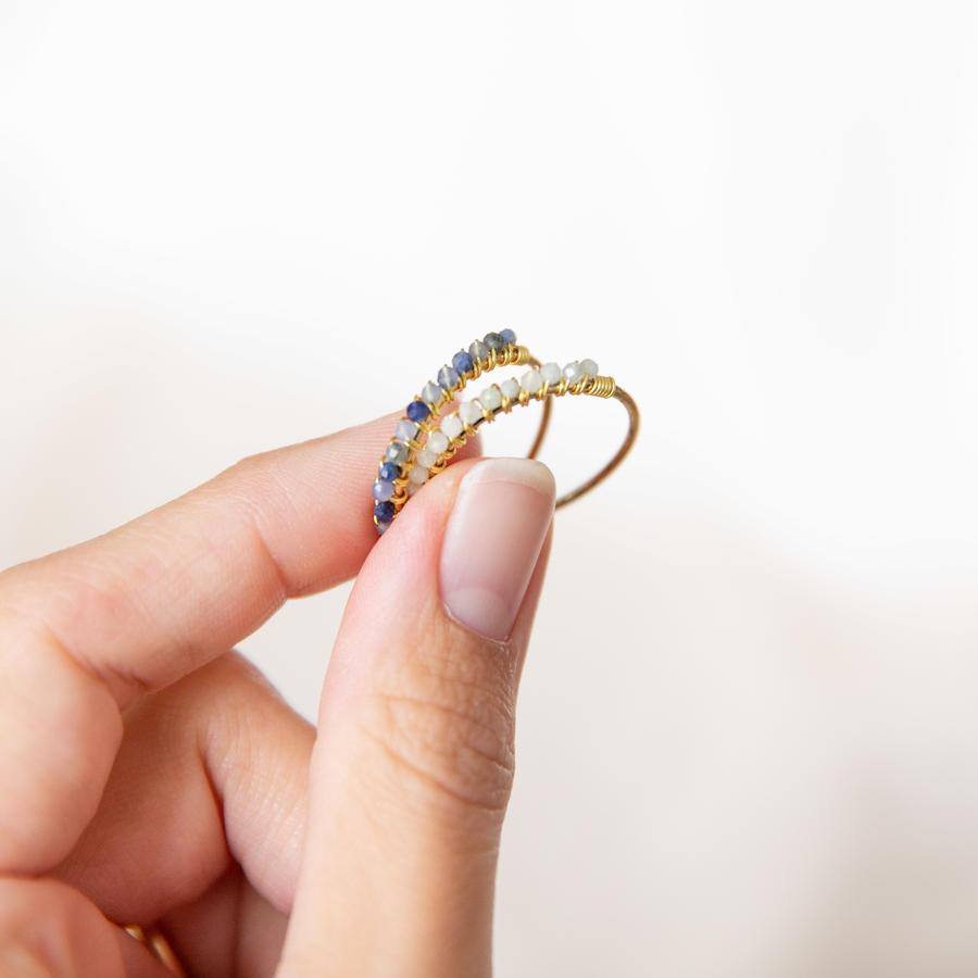 Anello in gold-filled con pietre micro [ + colori ]