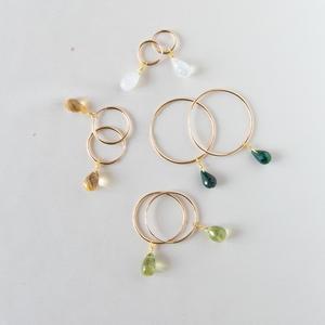 Cerchio singolo ad anello in gold-filled con pietra di nascita [ + misure ]