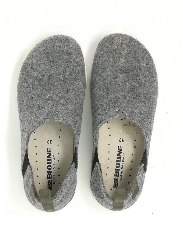 Pantofola/Scarpa Lana Cotta Grigio - BIOLINE