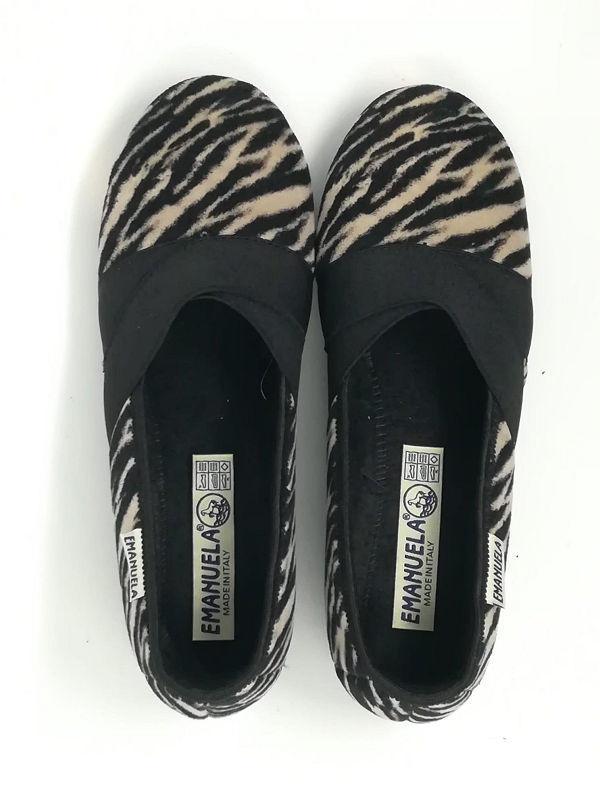 Pantofola Zeppa Elastici - EMANUELA
