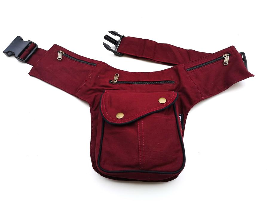 "Hip Bag ""MILAN"" black/green/grey/red"