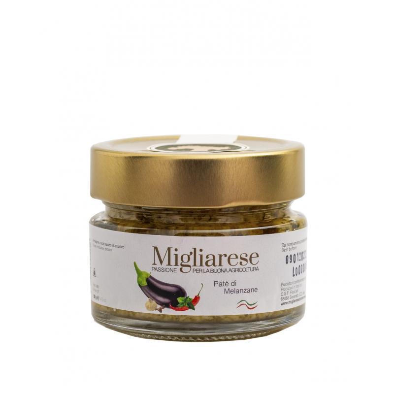 Patè di Melanzane, Migliarese, 130 gr.