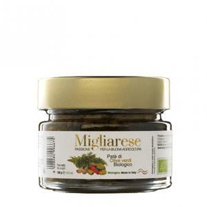 Patè di Olive Verdi Bio, MIgliarese, 130 gr