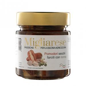 Pomodori Secchi farciti con Tonno, Migliarese, 240 gr.