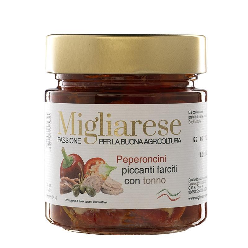 Peperoncini Piccanti farciti con Tonno, Migliarese, 240 gr.