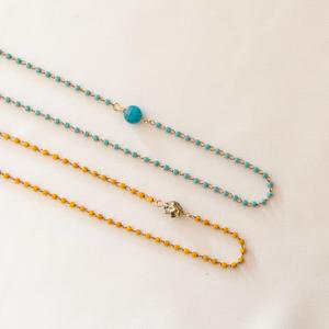 Collana con piccole perle miyuki e pietra [ + colori ]