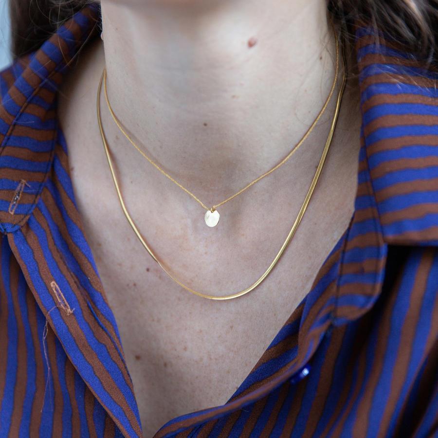 Collana girocollo snake in argento dorato