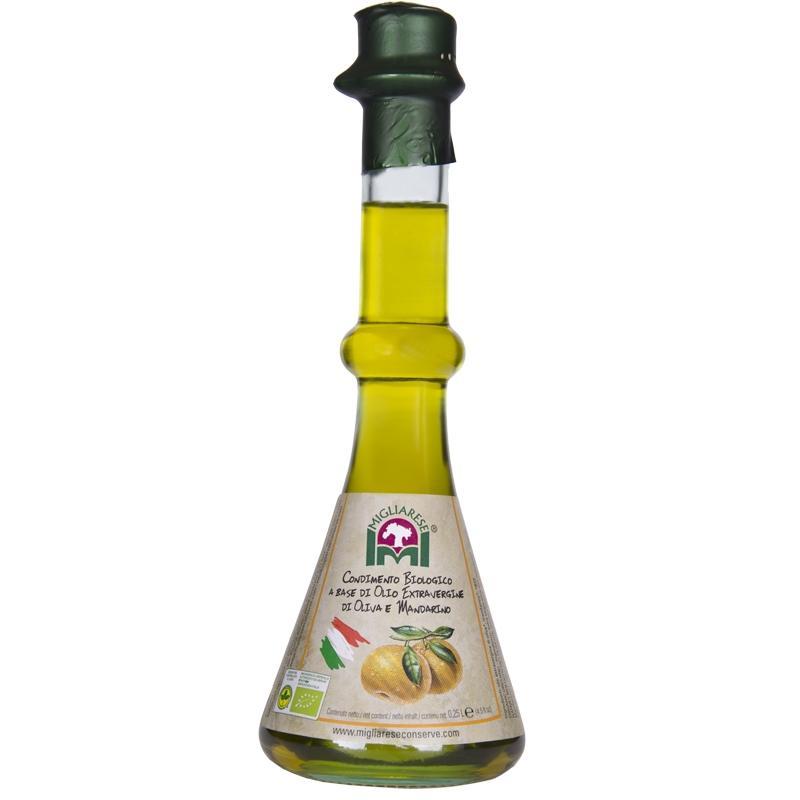 Condimento Biologico a base di Olio Extravergine di Oliva e Mandarino, Migliarese, 250 ml.
