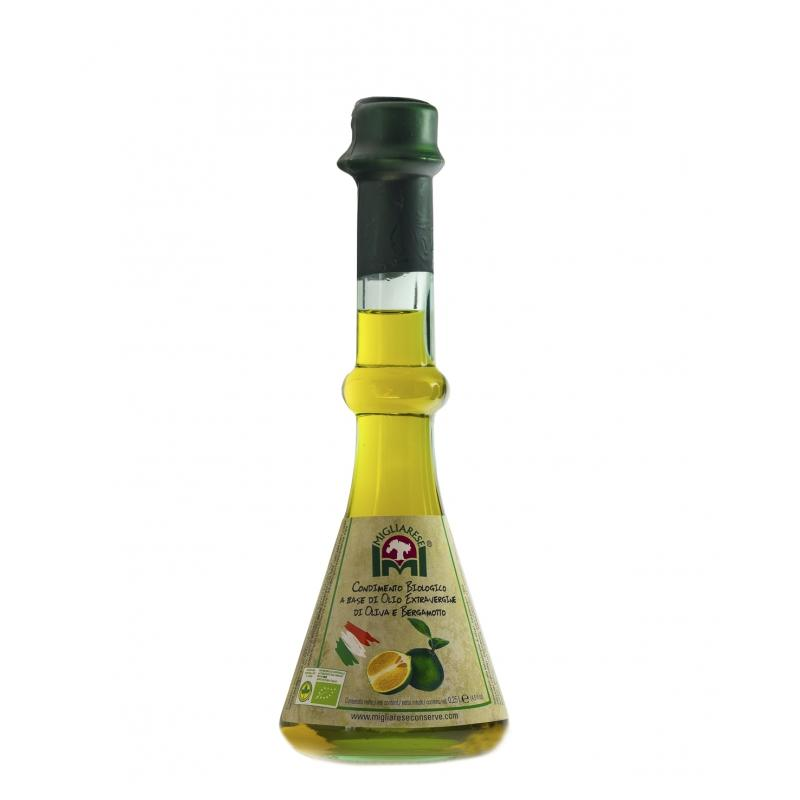 Condimento Biologico a base di Olio Extravergine di Oliva e Bergamotto, Migliarese, 250 ml.