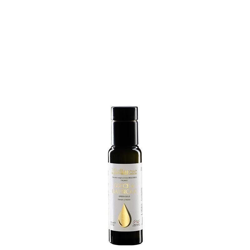 """Olio Extravergine di Oliva Biologico """"Gocce di Nausicaa"""" Green Gold, Migliarese,  100 ml"""