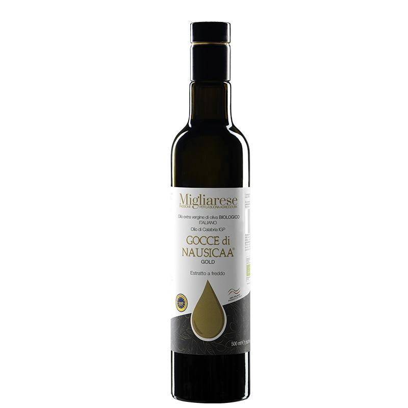 """Olio Extravergine di Oliva Biologico """"Gocce di Nausicaa"""" Gold"""" , Migliarese,  500 ml"""