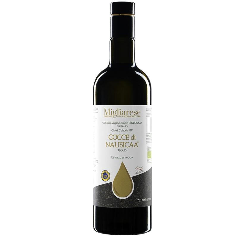 """Olio Extravergine di Oliva Biologico """"Gocce di Nausicaa"""" Gold"""", Migliarese,  750 ml"""