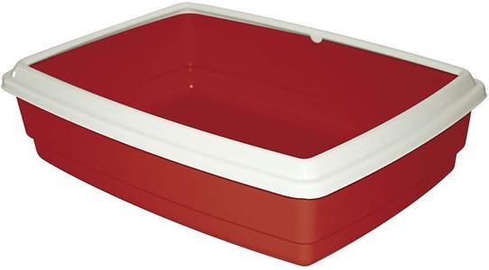 Cassetta Igienica Ovale con bordo - Rosso