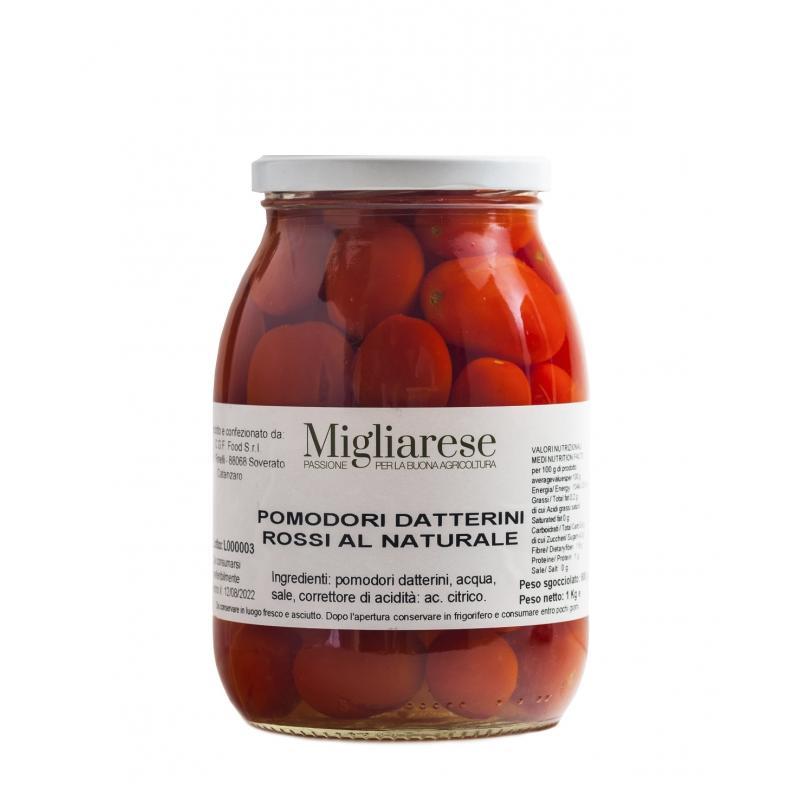 Pomodoro Datterino Rosso al Naturale; Migliarese,  1 kg